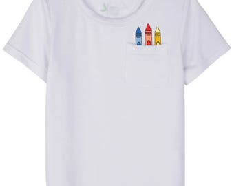 Kids Crayon Pocket Shirt