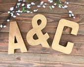 Gold Letters; metal lettters; wedding letters; gold letters wedding; 3d letters; rustic wedding decor; wedding decor;bridal; initials