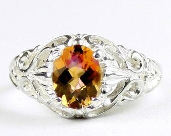 On Sale, 30% Off, Twilight Fire Topaz, 925 Sterling Silver Ring, SR113