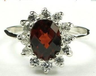 On Sale, 30% Off, Mozambique Garnet, 925 Sterling Silver Ring, SR235