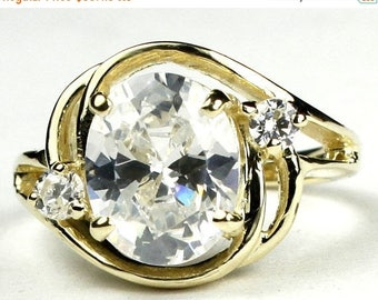 On Sale, 30% Off, Cubic Zirconia (CZ), 18KY Gold Ring, R021