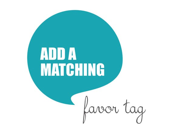Matching FAVOR TAG made to match any design from blueBUBBLEstudio - Digital File