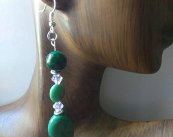 AUTHENTIC - Long Bead Drop Earrings, Affirmation Jewelry, Cause Jewelry, Benefits Homeless Mothers of Atlanta