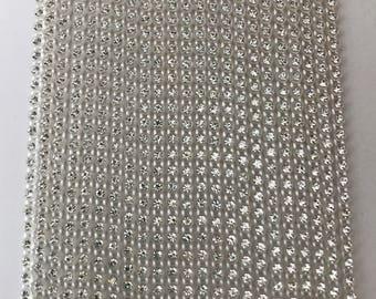 Ss6 clear crystal 2mm rhinestone banding chain 10 yards