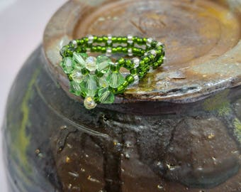 "Handmade Ring - ""Emerald City"""