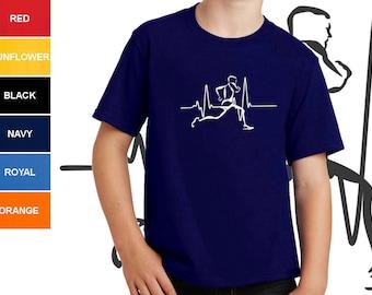 Running T-shirt Boy Short Sleeve