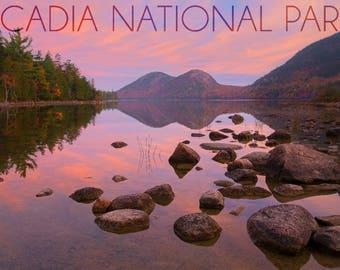 Acadia National Park, Maine - Jordan Pond - Lantern Press Photography (Art Print - Multiple Sizes Available)