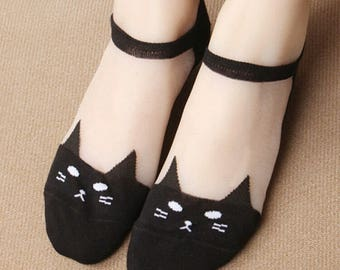 Harajuku Kitty cat summer Socks