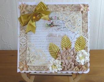 Shabby  Elegant Ladies Birthday Card