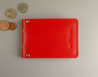 ID wallet, PERSONALIZED, card wallet, Minimalist leather wallet, id Card Holder,  id Card case, cadr cover