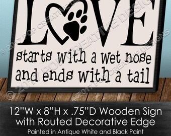 Love Dog Sign