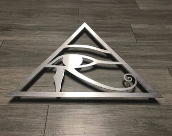All Seeing Eye Metal Wall Art - Silver - Metal Art - Wall Art - Metal Wall Decor - Eye of Horus - Eye of Ra - Egyptian Art