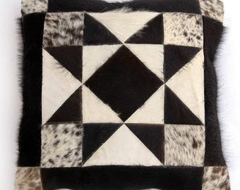 Natural Cowhide Luxurious Patchwork Hairon Cushion/pillow Cover (15''x 15'')a129