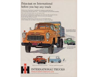 Vintage poster advertisement of a 1960 International truck - 52