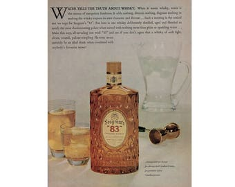 Vintage 1960 advertisement for Seagram's 83 and Campbell's soup - 57