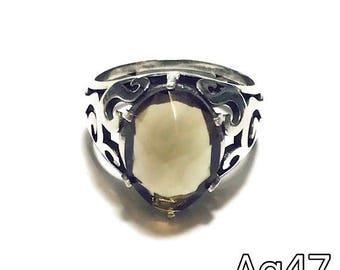 Smoke topaz - silver 925 ring