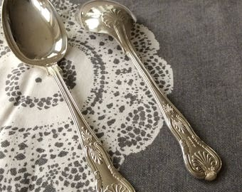 Tablespoons Pair Silver Plated 1920s (102599)