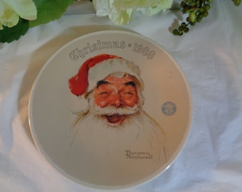 """Knowles Norman Rockwell """"Christmas""""  1988 Display Plate Wedding House Warming Gift"""