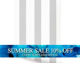 Vertical Grey Peel & Stick Fabric Wallpaper Repositionable
