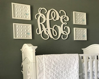 "Large (30"") Wooden Monogram-Ready to Paint-Monogram your Home, Wedding decor"