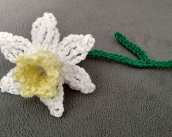 Crocheted Daffodil Or Snow Pea Flowers