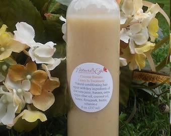 Coconut Banana Leave In Treatment (conditioner, repair treatment, damaged hair, biotin, vitamin e)