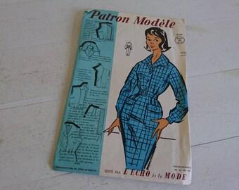Patron Modele - Pencil Dress - 1960 Sewing Pattern - Unused