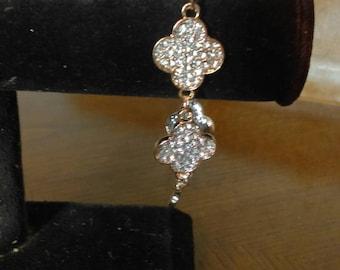 Copper  Clover Bling Bracelet