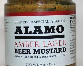 Alamo Amber Lager Beer Mustard