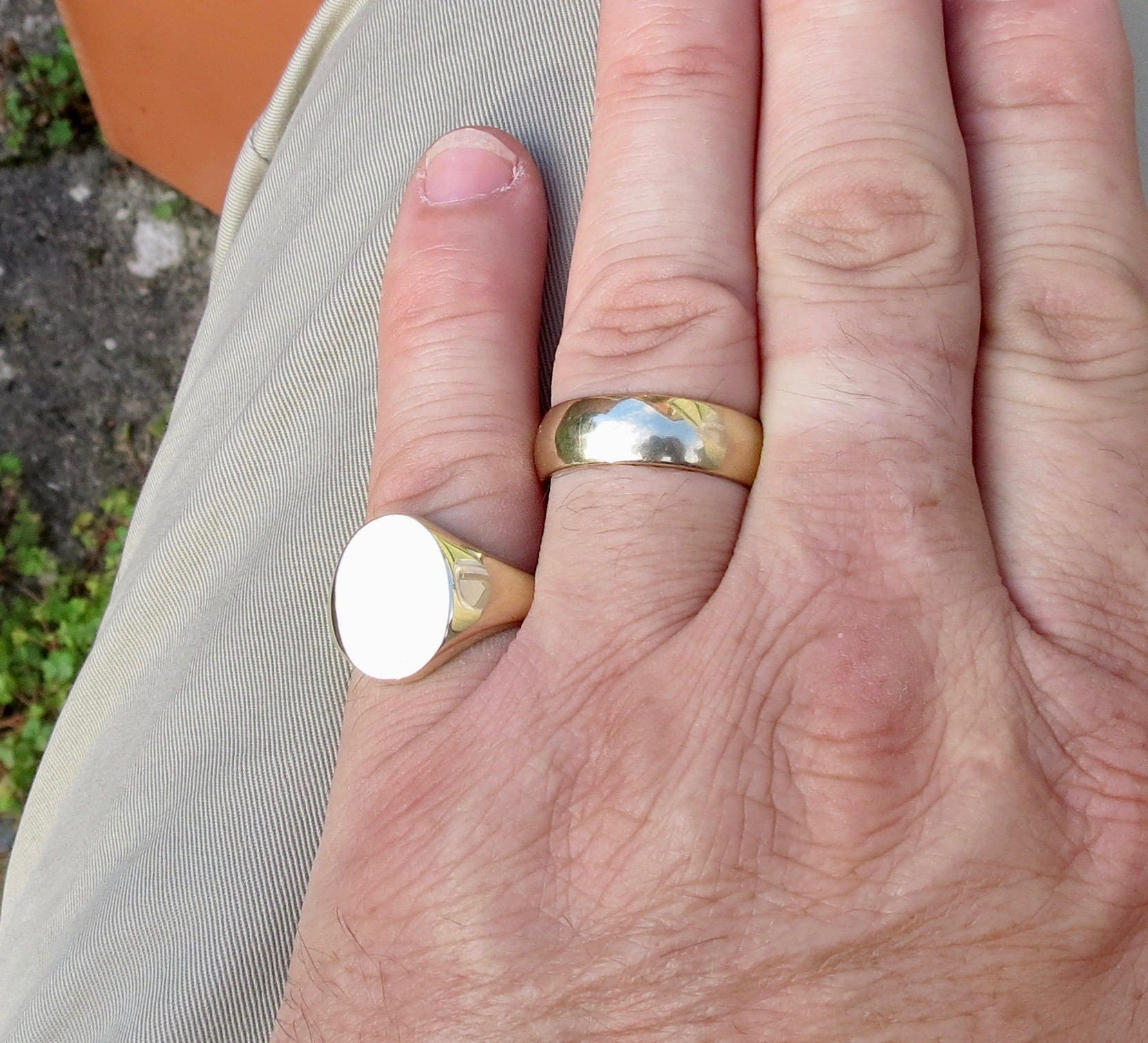 SOLD Layaway 4 for Steve A big heavy solid 9k yellow gold oval ...