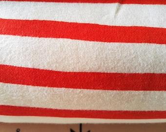 Organic interlock Jersey Red white striped sailor stripe birch