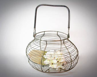 French Country WIRE EGG BASKET