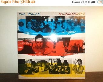 Save 30% Today Vintage 1983 LP Record The Police Synchronicity RARE Brown Vinyl Excellent Condition 9358