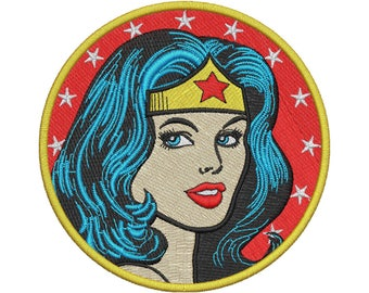 Wonder Woman Embroidery Design