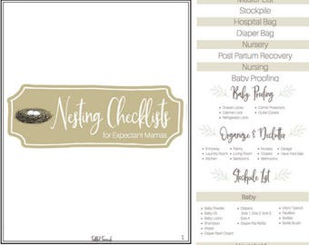 Nesting Checklists for Expectant Mamas