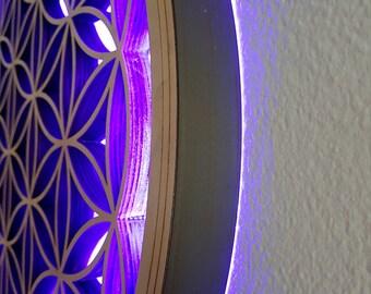FLOWER OF LIFE led lamp multicolor