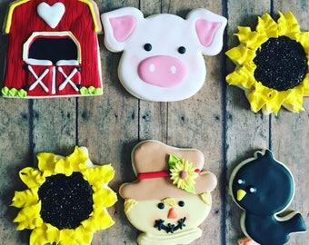 animal farm sugar cookies / hoedown cookies