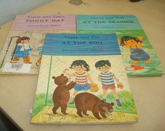 Set of 3 Large Format Topsy & Tim Books: 2 hardcover books