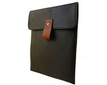 Dark Brown Leather Mini i-Pad Case - Can be Personalised