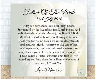 Father of the Bride from Groom Personalised Ceramic Plaque