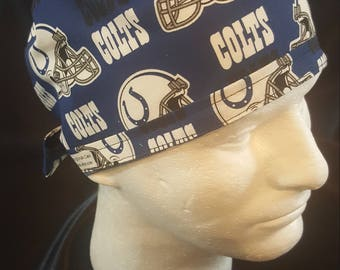 Indianapolis Colts NFL Football Tie Back Surgical Scrub Hat