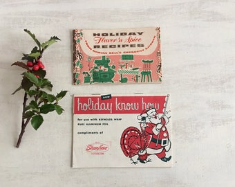 2 Little Vintage Holiday Recipe Booklets