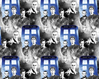 Doctor Who Fabric Police Public Call Fabric From Springs Creative 100% Cotton