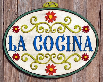 Mexican Kitchen Decor Mexican Kitchen Kitchen Decor Mexican Decor Kitchen Spanish Sign Spanish Decor Spain Decoration Wood Sign For Kitchen