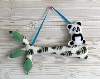 Tree branch and panda, Decoration for children