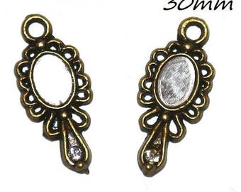 Mirror 2 X antique bronze 30mm