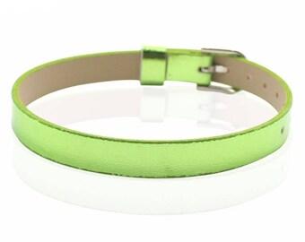 Faux leather green 22 cm bracelet