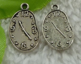 X 2 Tibetan silver melted clock