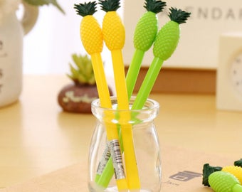 X 1 pineapple silicone gel ink pen