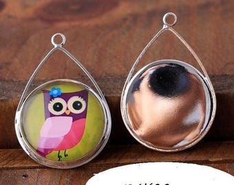 X 1 pair medium earrings 34X22mm